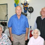 Nino Tuia 80th with Ida, Elsie and Lui