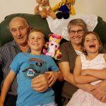 Nino an Dolly Tuia with grandchildren